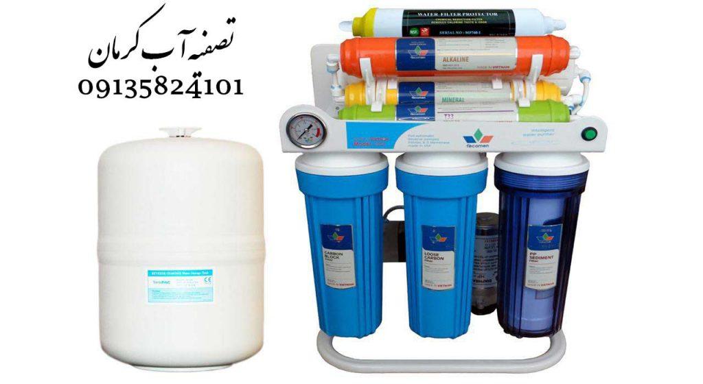 فروش و تعمیر دستگاه تصفیه آب در شهر کرمان فیلتر تصفیه آب کربن فعال و ممبران سختی آب